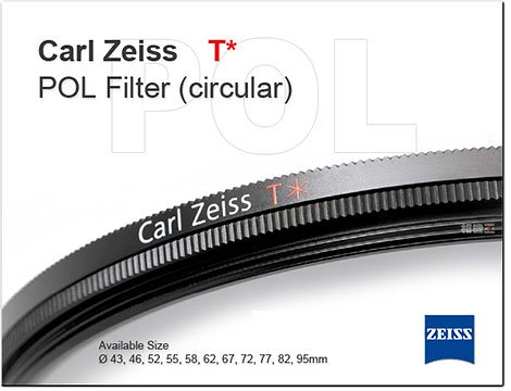 Carl Zeiss T* CPL Filter 偏光鏡 58mm