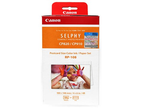 Canon SELPHY RP-108〔CP1200 CP910 適用〕明信片尺寸相紙