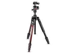 Manfrotto Befree Advanced〔MKBFRTA4RD-BH〕鋁合金三腳架套組 紅色