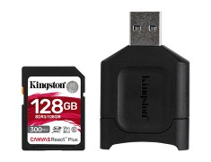 Kingston Canvas React Plus SD 128GB 記憶卡〔300MB/s〕公司貨